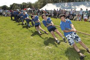 Young Farmers Tug of War at Coniston Country Fair