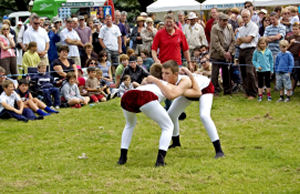 Wrestling at a Traditional Lakeland Country Fair